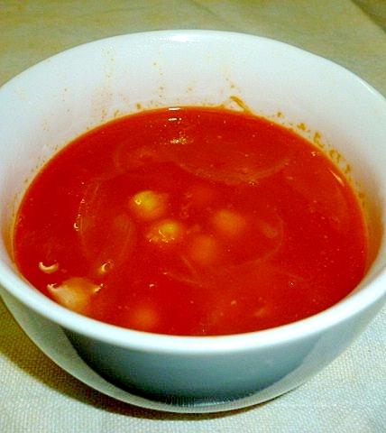 簡単☆トマトと豆のスープ♪
