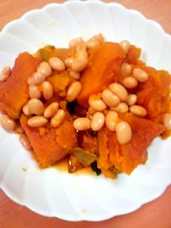 かぼちゃと大豆の煮物