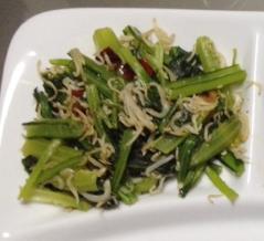 小松菜とジャコの炒め物