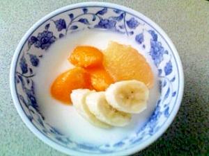 豆乳フルーツゼリー