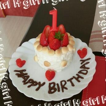 離乳食バースデーケーキ☆