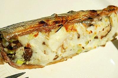 秋刀魚でフレンチ、秋刀魚のムース包み焼き