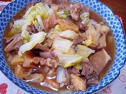 白菜と牛すじの煮物