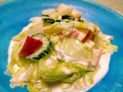 ■10分で..りんごとレタスのヨーグルトサラダ