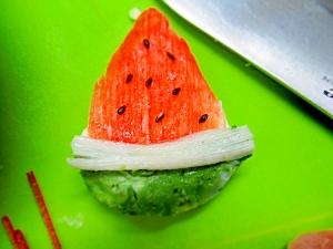キャラ弁に!チーズで簡単スイカ(∀)