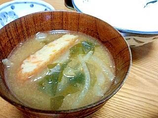 食べ応えアリ!薩摩揚げのお味噌汁