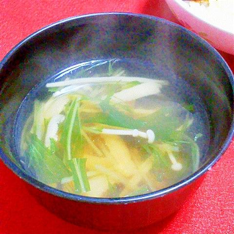 水菜とえのきのお吸い物