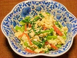 小松菜のカルシウム炒め