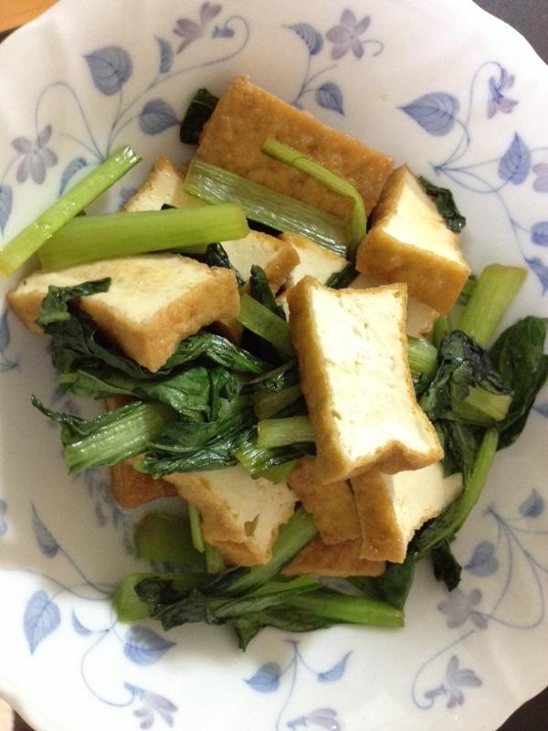 小松菜と厚揚げの炒めもの