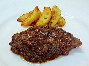 にんにく風味の牛ヒレ肉のステーキ