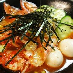 素麺でピリ辛冷麺