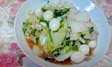 豚小間が柔らかくて美味しい、白菜の中華炒め♪