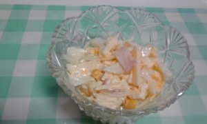 白菜と新玉ねぎのコールスロー風サラダ♪