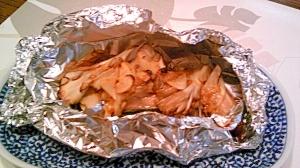 鮭・舞茸・にんにくホイル焼き