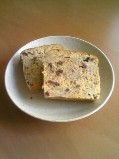 バター不使用♪バナナとチョコのパウンドケーキ