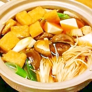 うちの寄せ鍋(鶏団子鍋)