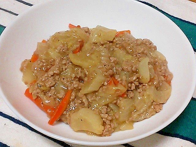 とろ~り♪白菜とひき肉の中華あんかけ&丼