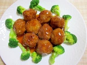 肉団子の甘酢あんかけ