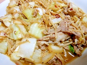 白菜と豚肉の炒め物