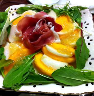 柿と蕪の生ハムサラダ