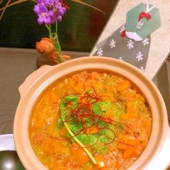 牛すね肉とおろし胡瓜の韓国風雑炊