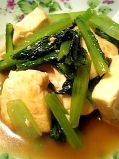 風邪予防ための豆腐と小松菜のオイスターソース炒め♪