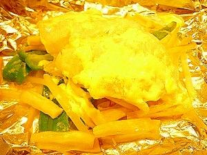 すきみだらの味噌バターホイル焼き