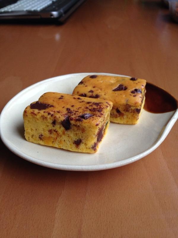 バター不使用♪かぼちゃとチョコのケーキ