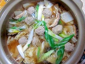 野菜入り肉団子鍋