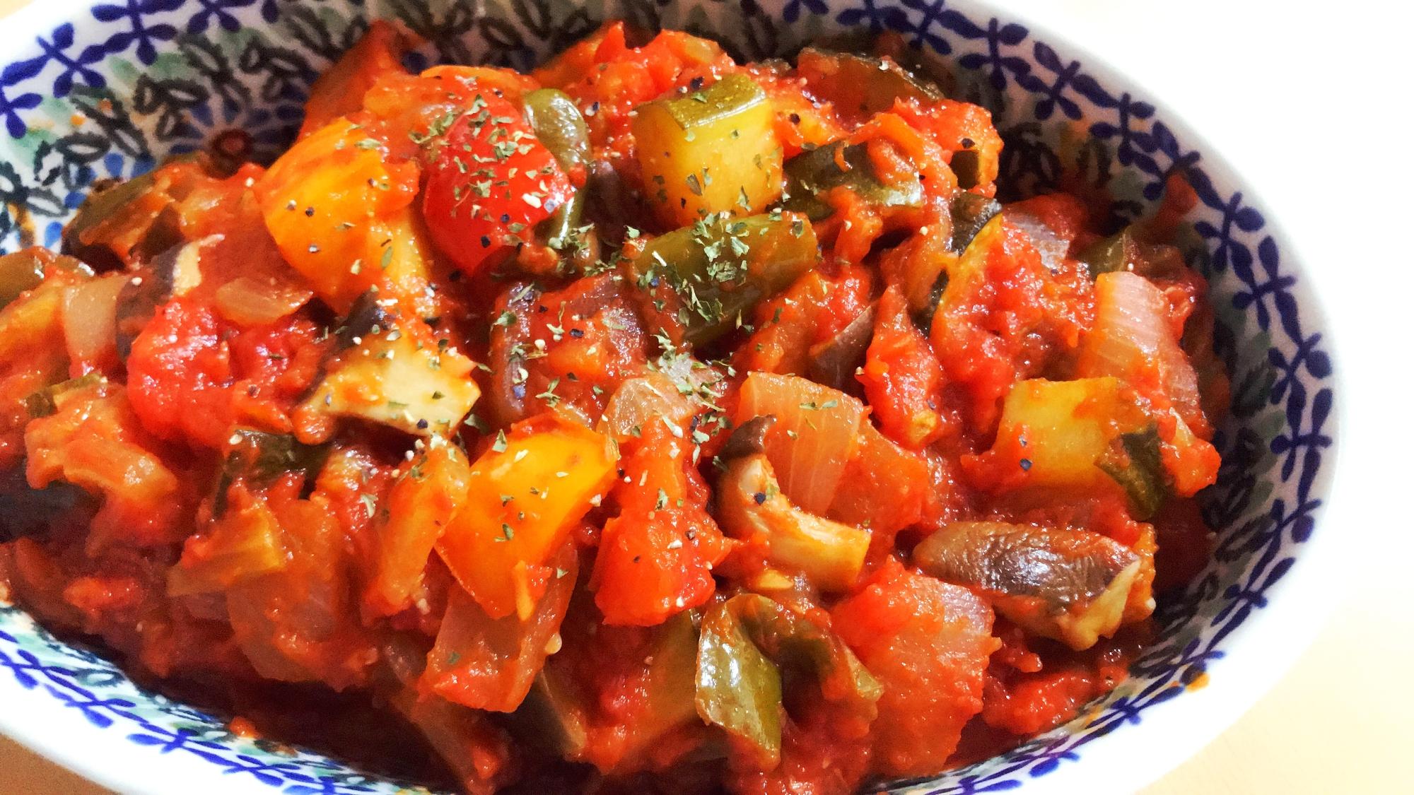 【夫婦のおつまみ】夏野菜たっぷり♡ラタトゥイユ