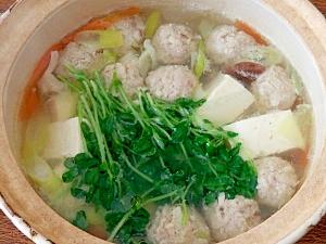 豚ひき肉の肉団子鍋 レシピ・作り方