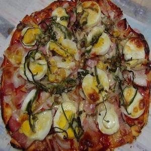 トマトケチャップで作るピザ