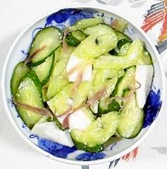 胡瓜、蕪、セロリ、茗荷の浅漬け
