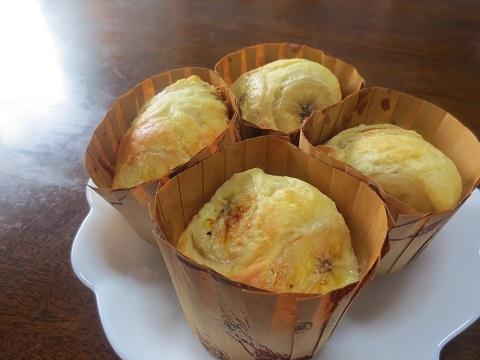バナナキャラメルのカップケーキ