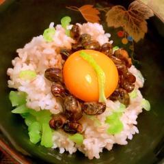 納豆と豆乳の卵がけ菜飯