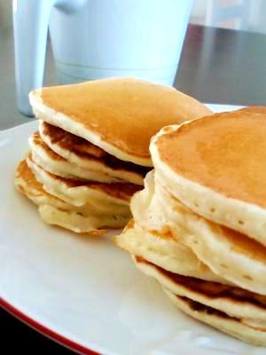 朝食におやつにふわふわパンケーキ