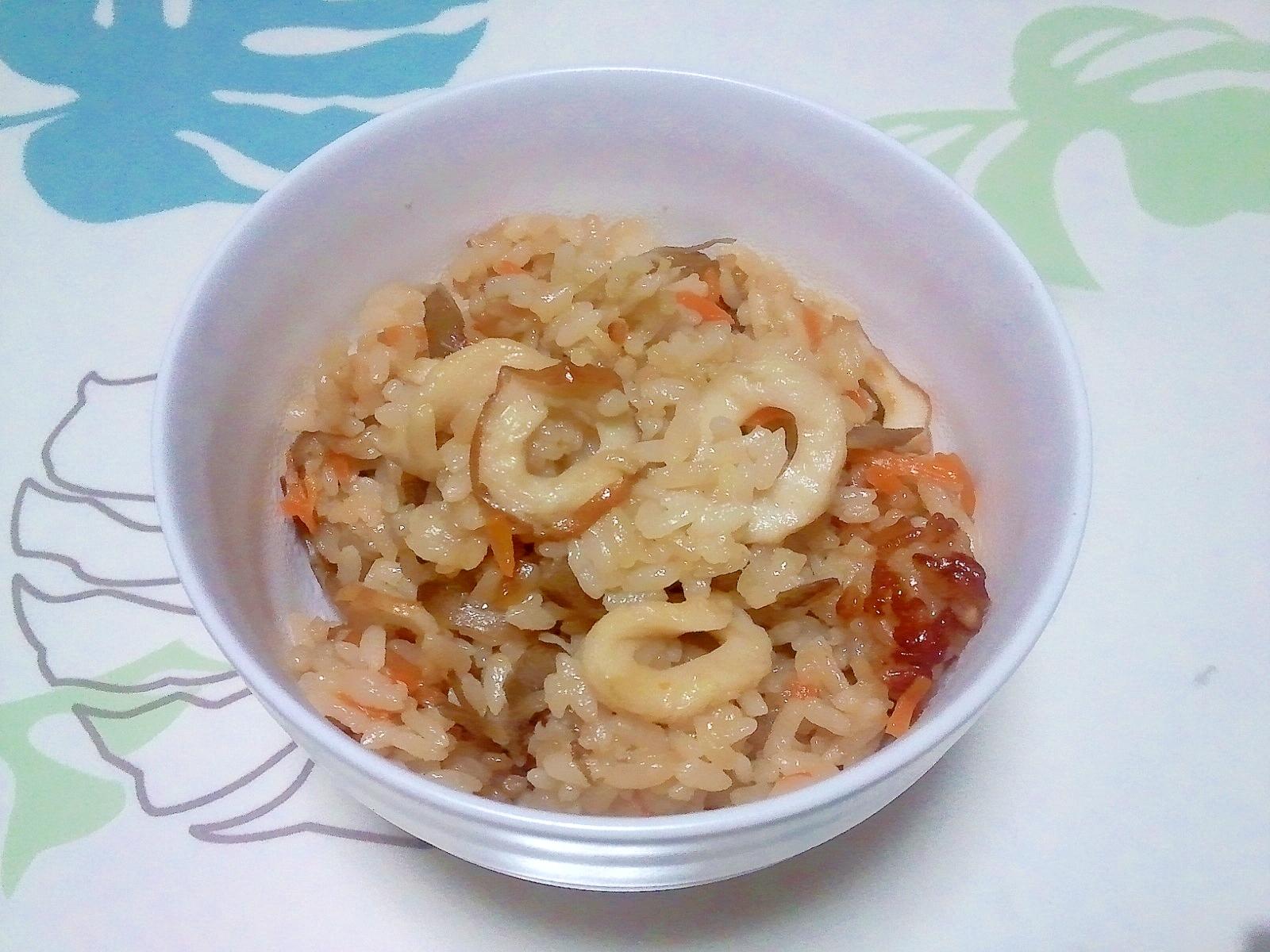 竹輪の炊き込みご飯++
