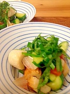 ちくわときゅうりの酢の物サラダ