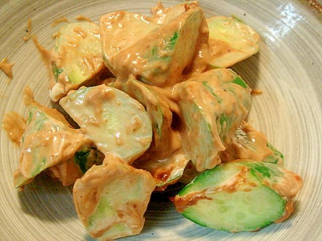 胡瓜の味噌マヨ和え