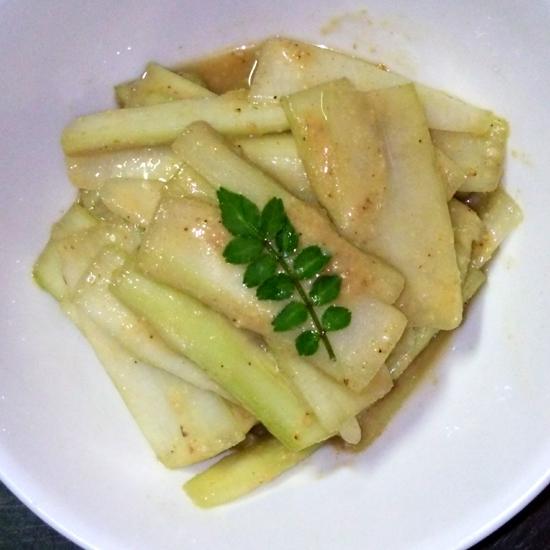 簡単調理♪ウドのゴマ酢味噌和え