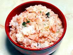 旬の鮭を使って!簡単!生鮭と青じその混ぜご飯♪