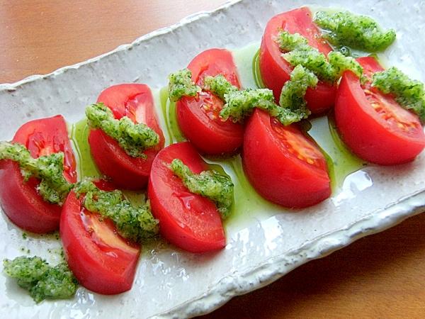 副菜. トマトときゅうりの和風サラダ