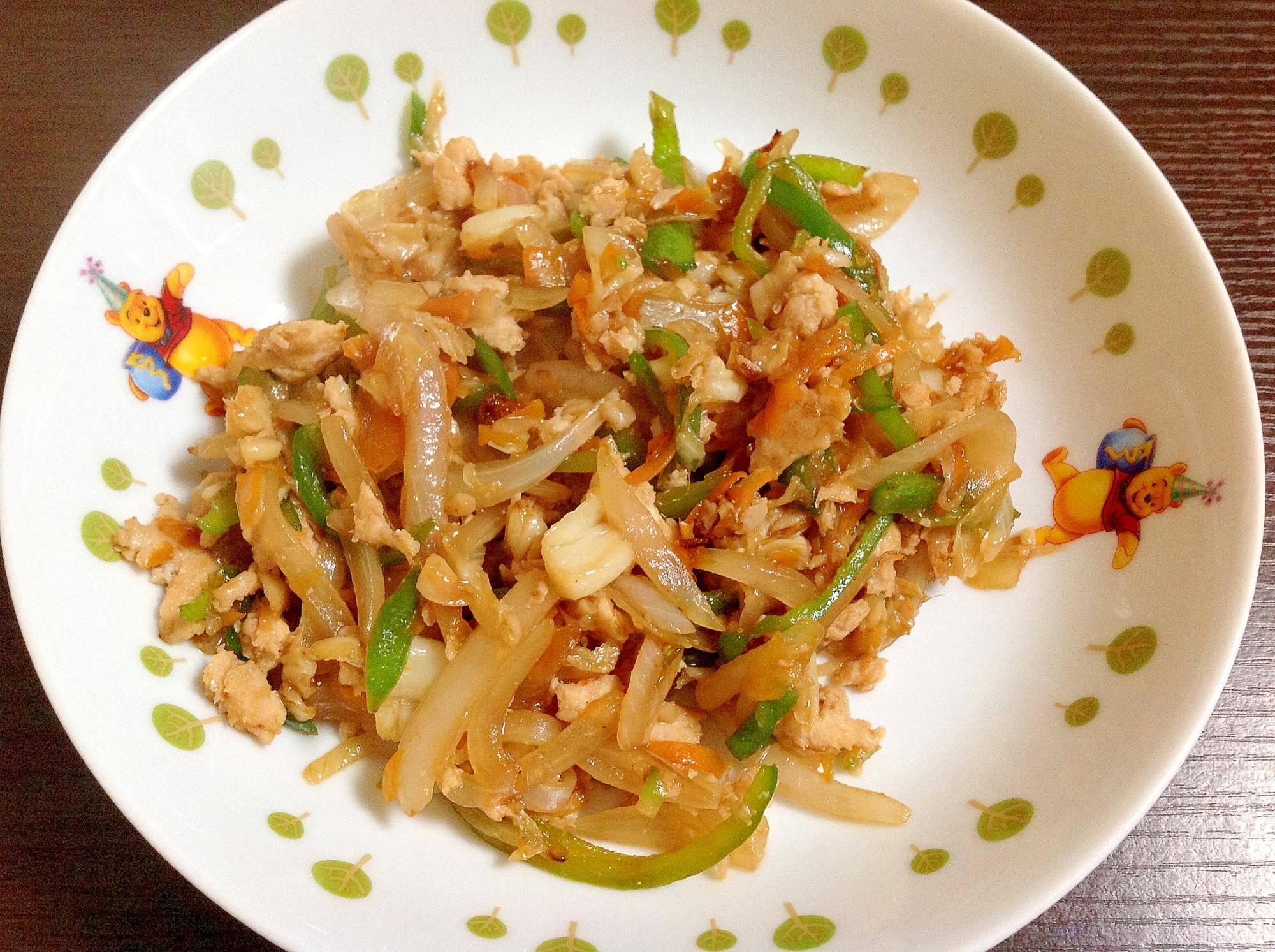 鶏ムネ肉の野菜炒め