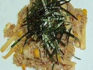 筍と焼き海苔の焼き飯