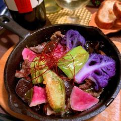 砂肝と生木耳の中華風アヒージョ