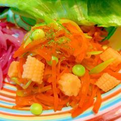 三色お野菜の賑やかサラダ
