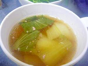 チンゲン菜とひき肉のスープ