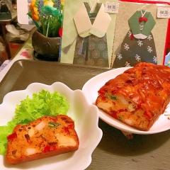 鶏ささみとパプリカのコリアン*ケークサレ