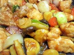 【中華ごま】鶏むね肉であっさりした酢鶏