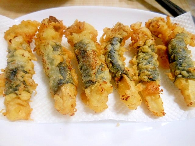 ☆エリンギ海苔巻き天ぷら☆